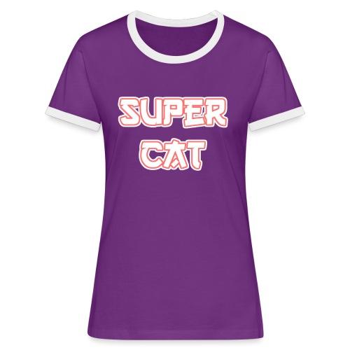 Super Cat - Frauen Kontrast-T-Shirt