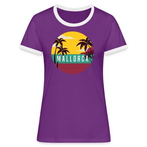 Mallorca - Frauen Kontrast-T-Shirt