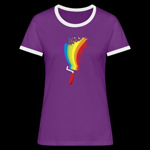 Paint roller Vivid Color - Frauen Kontrast-T-Shirt