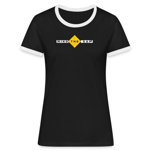 London Souvenir - Mind The Gap - Frauen Kontrast-T-Shirt