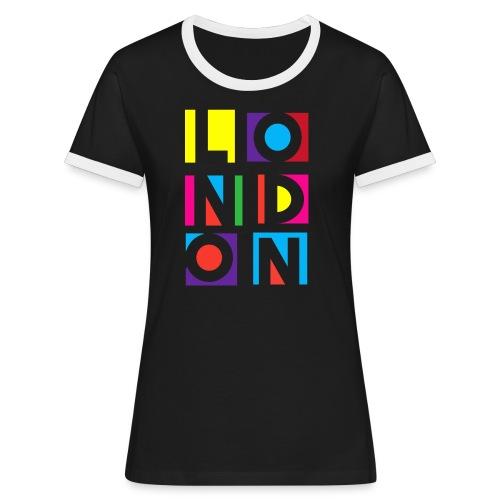 Vintage London Souvenir - Retro Modern Art London - Frauen Kontrast-T-Shirt