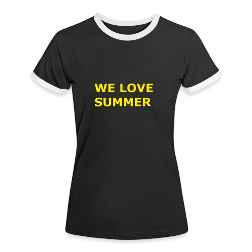 we love summer - Frauen Kontrast-T-Shirt