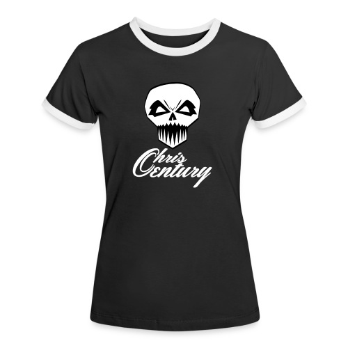 logo Chris Century blanc - T-shirt contrasté Femme