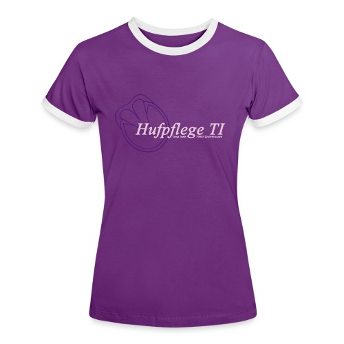 TI_Logo - Frauen Kontrast-T-Shirt