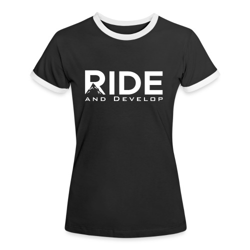 Ride and Develop - White - Kontrast-T-shirt dam