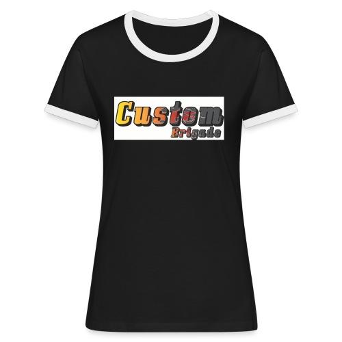 flammecb - T-shirt contrasté Femme