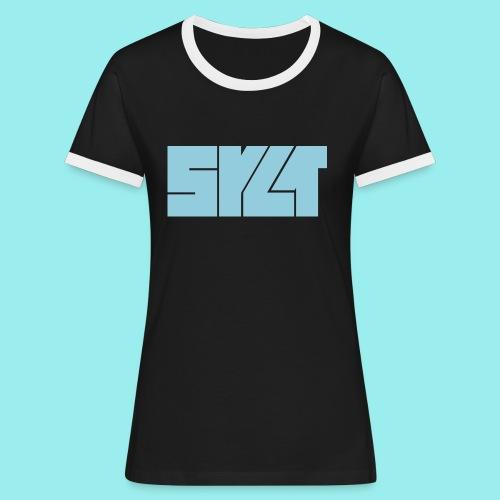 SYLT Block blau - Frauen Kontrast-T-Shirt