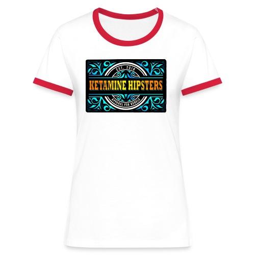 Black Vintage - KETAMINE HIPSTERS Apparel - Women's Ringer T-Shirt