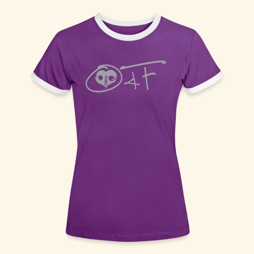 O4F GRIGIO - Maglietta Contrast da donna