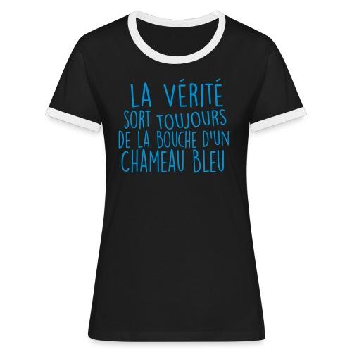 la verite - T-shirt contrasté Femme