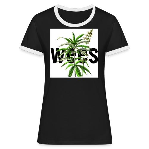 wees tshirt NdP Cannabis sativa jpg - T-shirt contrasté Femme