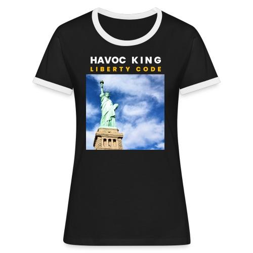 Havoc King Cover - Frauen Kontrast-T-Shirt