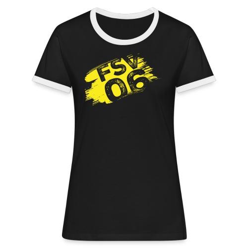 Hildburghausen FSV 06 Graffiti gelb - Frauen Kontrast-T-Shirt