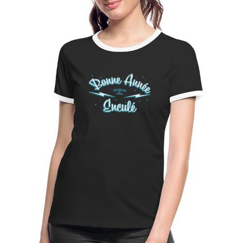 Bonne année - T-shirt contrasté Femme