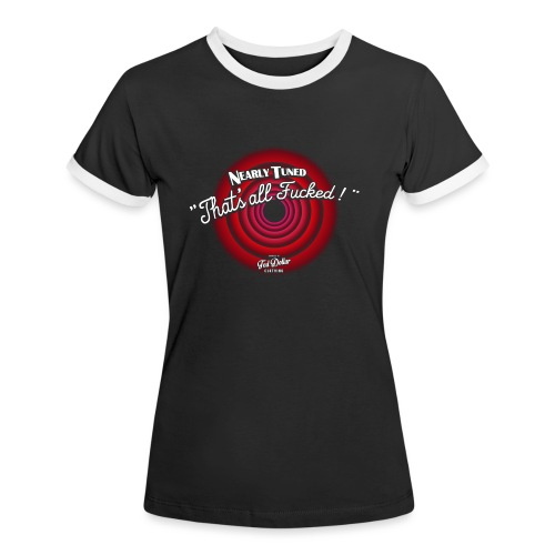 That's all Fucked - T-shirt contrasté Femme
