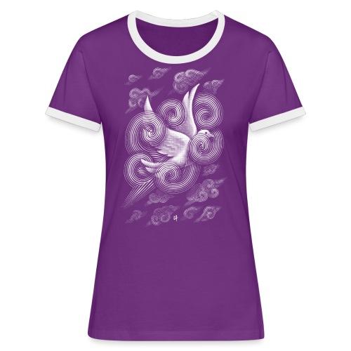 Crossing Clouds - Women's Ringer T-Shirt