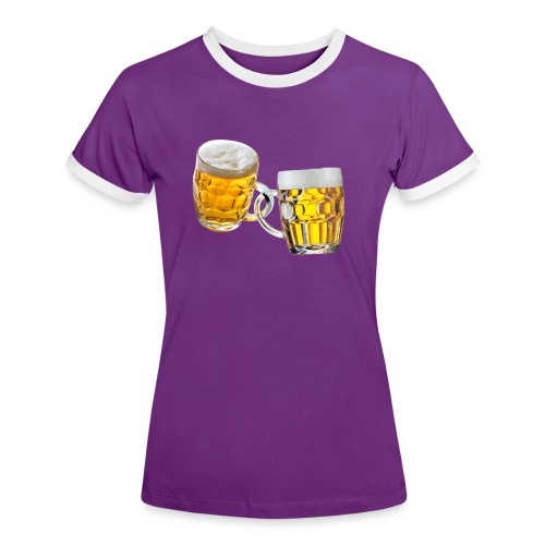 Boccali di birra - Maglietta Contrast da donna