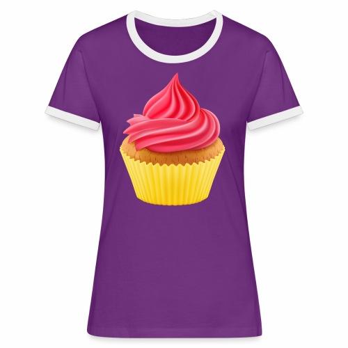 Cupcake - Frauen Kontrast-T-Shirt