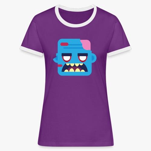 Mini Monsters - Zombob - Dame kontrast-T-shirt