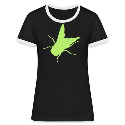 fliege - Frauen Kontrast-T-Shirt