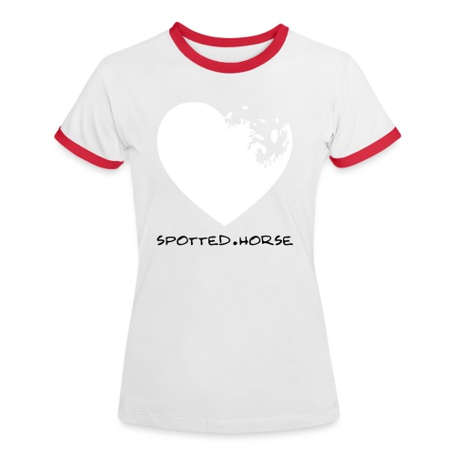 Cuore Appaloosa (bianco/rosso) - Maglietta Contrast da donna
