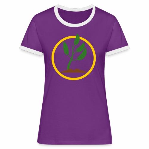 Setzlingemblem - Frauen Kontrast-T-Shirt