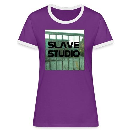Logo_SLAVE_STUDIO_1518x1572 - Maglietta Contrast da donna