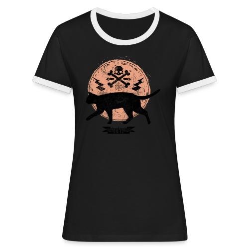 Catwalk - Frauen Kontrast-T-Shirt