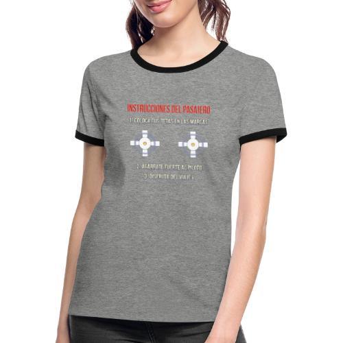 Instrucciones Pasajero - Camiseta contraste mujer