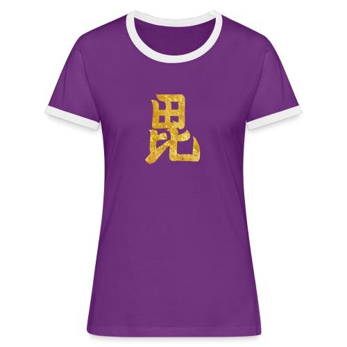 Uesugi Mon Japanese samurai clan in gold - Women's Ringer T-Shirt