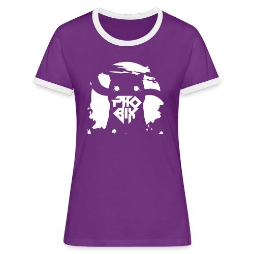 white 01big png - Frauen Kontrast-T-Shirt