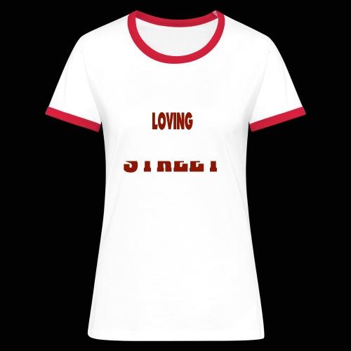 IMLOVINGTHESTREET - Dame kontrast-T-shirt
