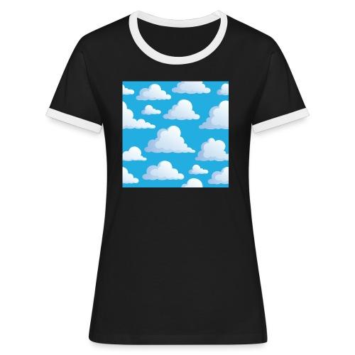 Cartoon_Clouds - Women's Ringer T-Shirt