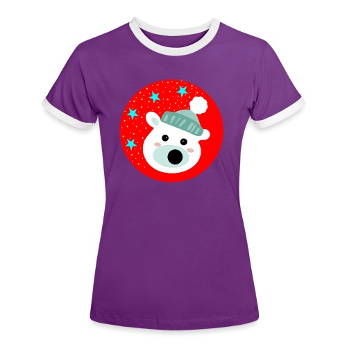 Winter bear - Women's Ringer T-Shirt