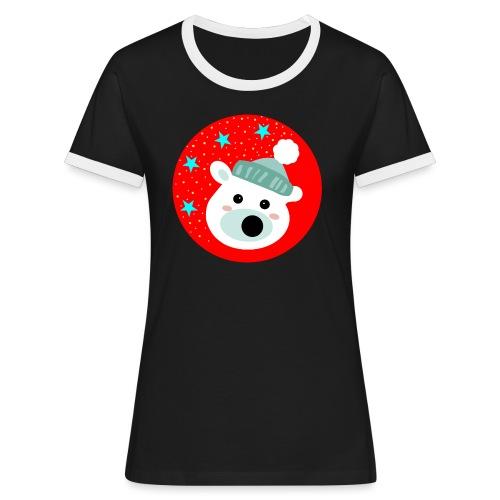 Winter bear - Women's Ringer T-Shirt