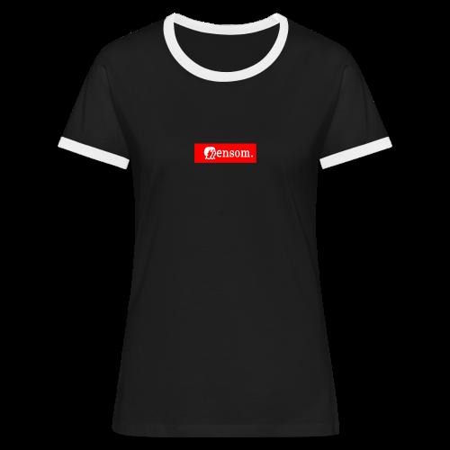 Ensom - Kontrast-T-skjorte for kvinner