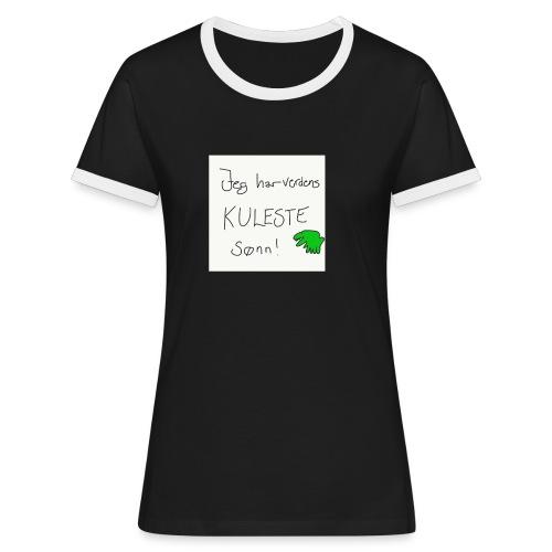 Kul sønn - Kontrast-T-skjorte for kvinner