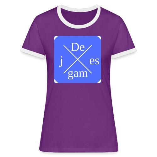 de j games kleren - Vrouwen contrastshirt