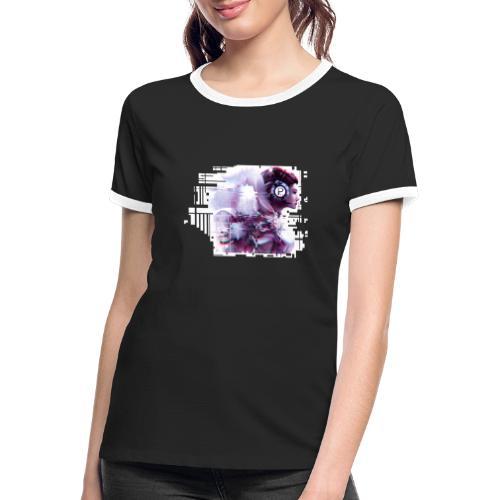 Plakat PG6 2 - Frauen Kontrast-T-Shirt