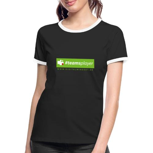 #teamsplayer - Frauen Kontrast-T-Shirt