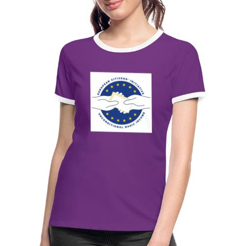 Logo eci-UBI 2020 OP WIT VIERKANT - Vrouwen contrastshirt