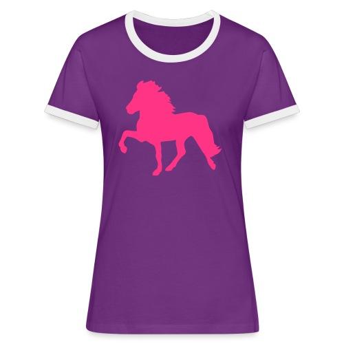 Tölter - Frauen Kontrast-T-Shirt