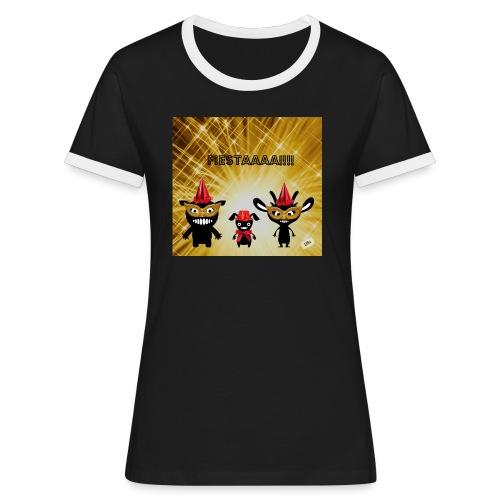 Fiestaaa - T-shirt contrasté Femme