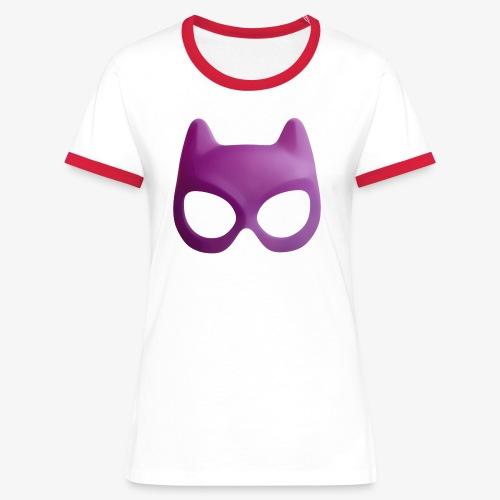 Bat Mask - Koszulka damska z kontrastowymi wstawkami