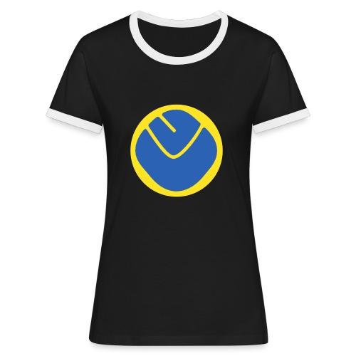 smiley invesrse - Women's Ringer T-Shirt