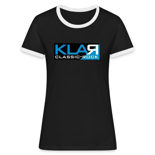 KLAR-Logo clear - Frauen Kontrast-T-Shirt