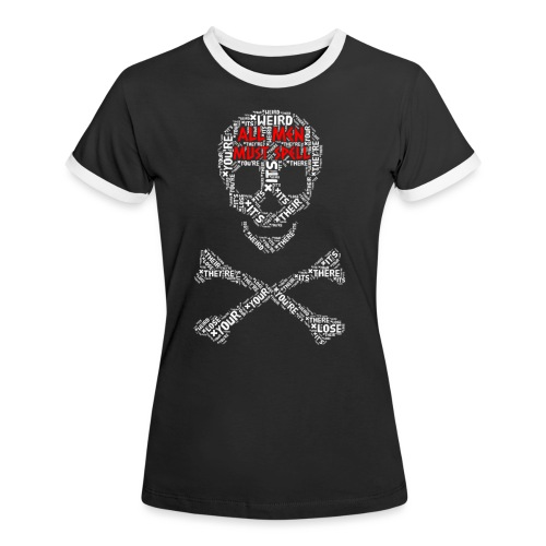 All Men Must Spell - Dame kontrast-T-shirt