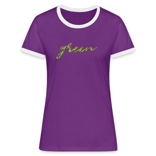 green png - T-shirt contrasté Femme