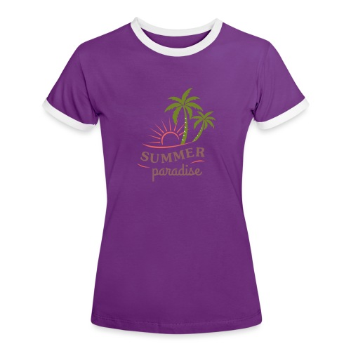Summer paradise - Women's Ringer T-Shirt