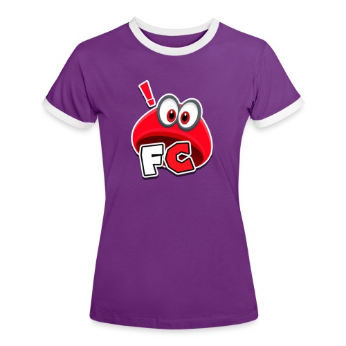 Flying Cappys Logo! - Frauen Kontrast-T-Shirt